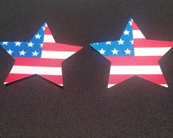 American Flag Star - Sun burn protectors / Nipple Shields / Pasties