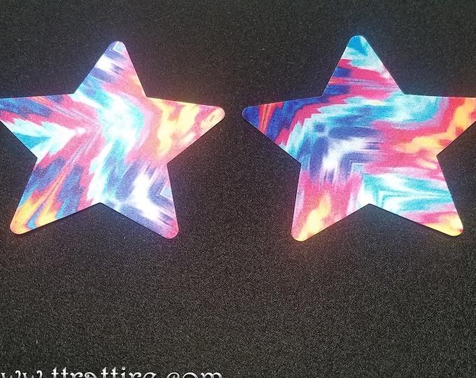 Tiedye Star - Sun burn protectors / Nipple Shields / Pasties