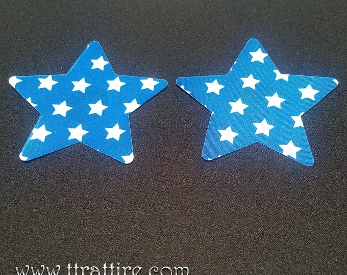 Blue Stars/Wonder Woman - Sun burn protectors / Nipple Shields / Pasties