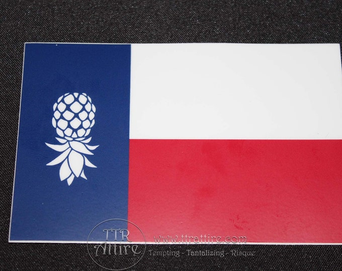Upside Down Texas Pineapple Bumper Sticker - Show off your lifestyle pride with our swinger bumper sticker