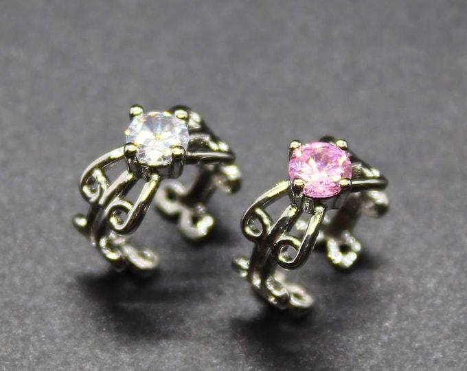 Jeweled Circle Ear Cuff - Non Piercing Earring