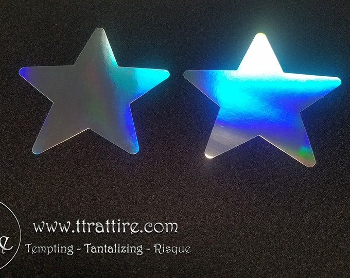 Holographic Mirror Star - Sun burn protectors / Nipple Shields / Pasties