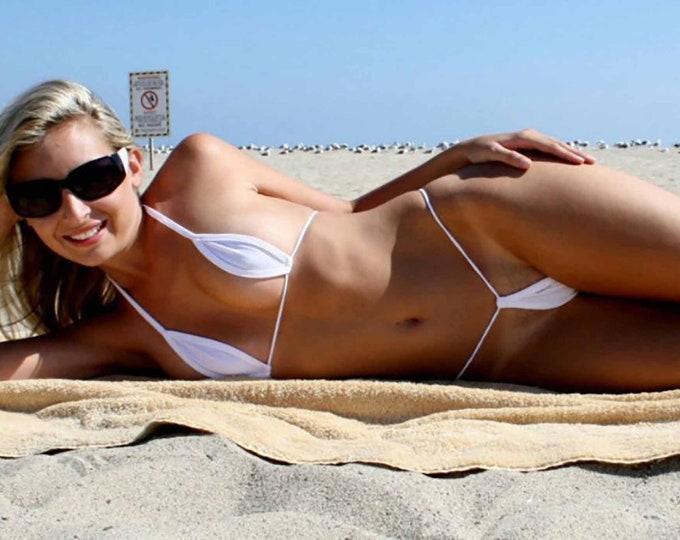 Sheer Microkini G String Bikini - Women's Extreme Micro Thong Competition Wear