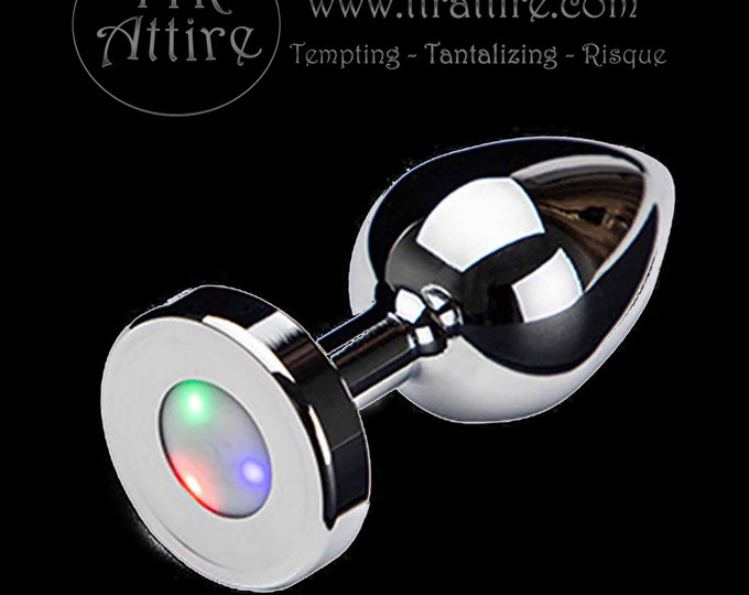 Thinline LED Light Up Butt Plug - Anal Plug - Great for BDSM, Roleplay or Cosplay-Spice up your sex life - Rave/Club Wear-Swinger Lifestyle