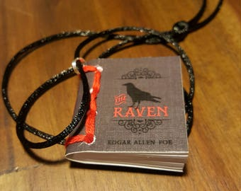 The Raven Tiny Book Necklace