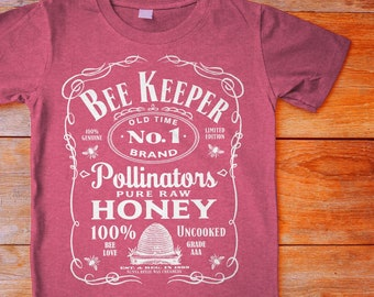 919c8d3c Vintage Style Beekeeper Shirt, Limited Edition, Beekeeper Gift, Honeybees, Bee  Lover Shirt, Gift For Bee Keeper, Whiskey Lover, Bee Tee