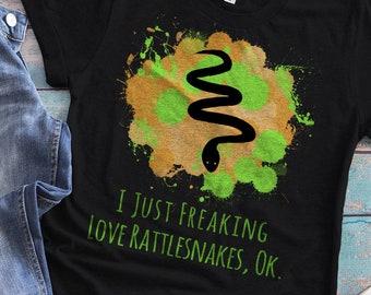 Rattlesnake Shirt, Snake Shirt, Desert Animal, Rattlesnake Print, Rattlesnake T-Shirt, Rattlesnake Art Print Gift, Spirit Animal, Snake Tee