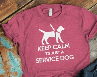 99f76082 Service Dog Shirt, Fur Mama, Support Dog, Keep Calm Shirt, Therapy Dog,  Service Animal, Assistance Dog, Guide Dog T-shirt, Vintage Tshirt