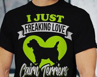 Cairn Terrier Shirt, Fur Mama, Dog Mom, Cairn Terrier Print Gift, Cairn Terriers Lover, Cute Cairn Terrier Shirt,  Love Cairn Terriers