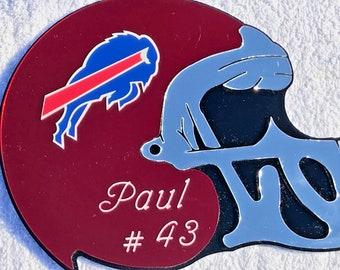 0e76ef45d95 Buffalo Bills Football Helmet Wall Decor Personalized