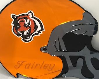 d728366d8 Cincinnati Bengals Football Helmet Wall Decor Personalized