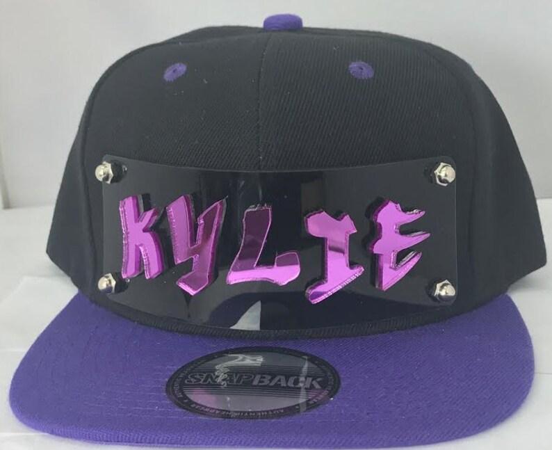34b7fe00c9784 Custom Snapback Hat Create Your Name or Word 3D Laser Cut