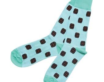 Blue Bourbon Bottled Up Socks
