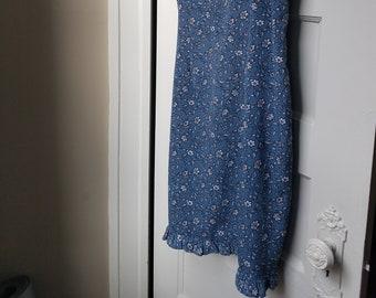Vintage Blue Mid-Length Slip Dress