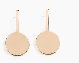 Farris Dot Drop Earrings Bronze
