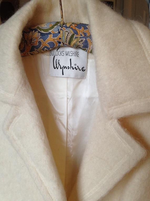 Pristine Bullocks Wilshire Vintage Coat - White W… - image 2
