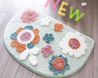 """Super cute flower bath mats 20X32""""/18X28""""/16X24""""/anti-slippery bath mats, cute door rug mat"""