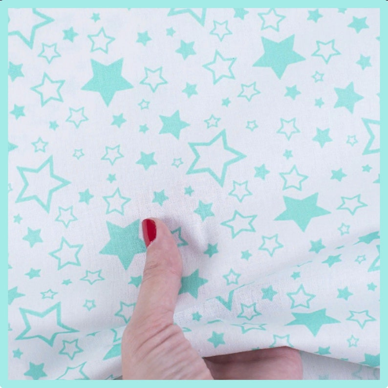 Fabric  quilting Apparel fabric Cotton stars fabric for kids Patchwork Cotton fabric Green stars by half yard Diy Home Decor Craft