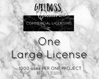 ONE LARGE LICENSE commercial use