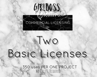 TWO basic Commercial use licenses 2 listings