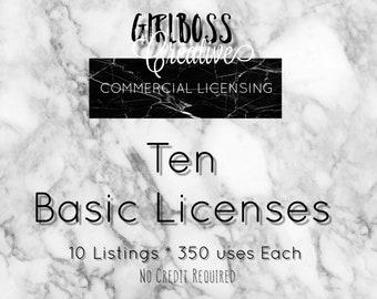 TEN basic Commercial use 10 listings