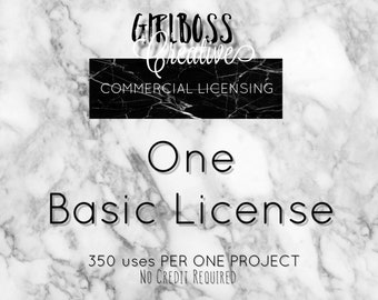 ONE BASIC LICENSE commercial use