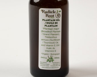 Plantain Oil, Plantain Infused Sunflower Oil, Herbal Oil