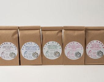 Organic Pregnancy Postpartum Trio, Loose Leaf Tea, Pregnancy Tea, Postpartum Tea, Combo Pack, Three Tea Combo