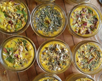 Elemental Herb Candles- Earth - Air - Fire - Water - Spirit  -  Beeswax Candles