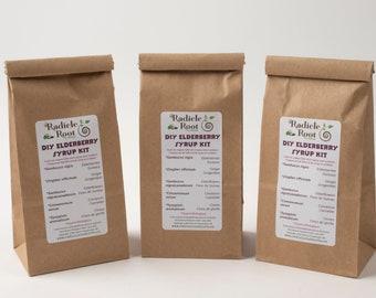 DIY Elderberry Syrup Kit, Do It Yourself Kit, Organic Elderberry Syrup