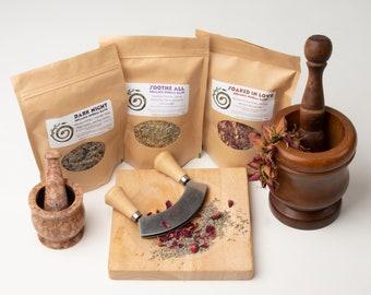 Organic Herbal Bath Teas, Bath Blend, Brew a Bath, Herbal Bath