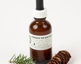 Evergreen Oxymels, Spruce Tip Oxymel, Fir Tip Oxymel, Spruce & Fir Vinegar with Honey, Cocktail/Mocktail Mixer