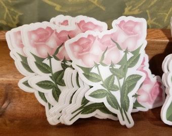 Herbal Stickers, Plantain Sticker, Rose Sticker, Calendula Sticker, Plant Stickers