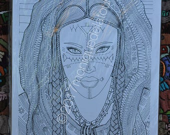 Cultural Coloring Page
