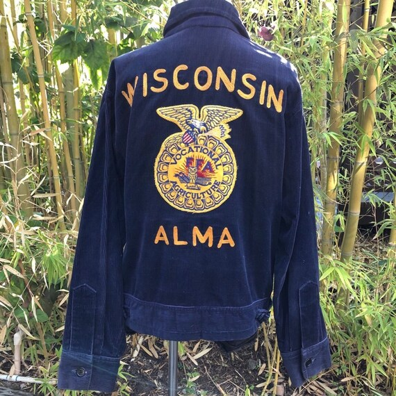 VINTAGE WISCONSIN Corduroy Rockabilly Jacket