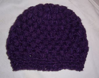 handmade purple warm cap