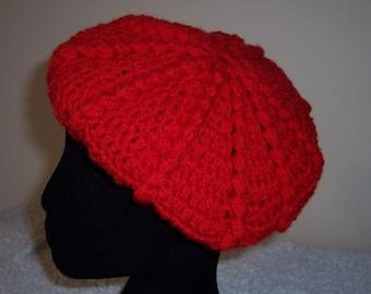 BERET CROCHET HAT