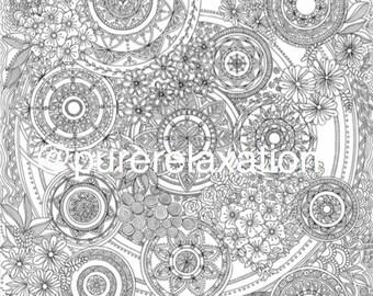 A1 Mandala Colouring