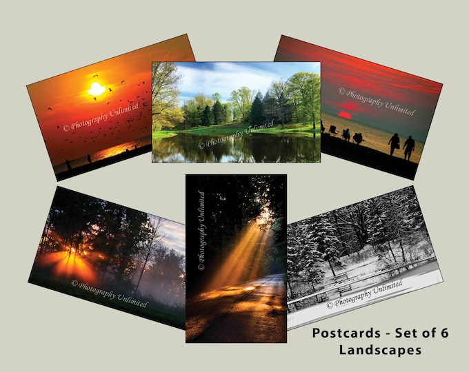 Postcards 4x6 - Landscapes - Scenic (Set of 6))