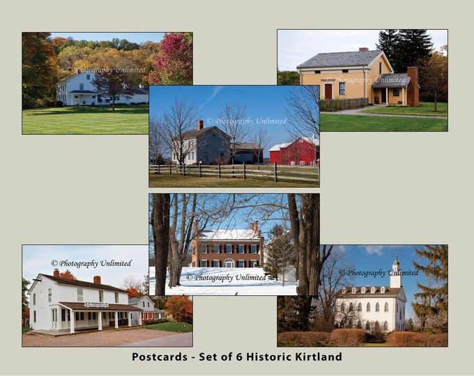 Historic Kirtland Village, Kirtland, Ohio Postcards (set of 6)