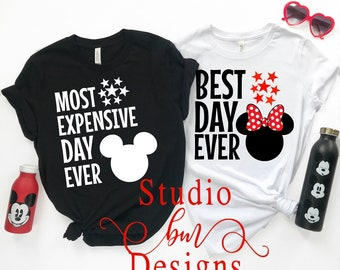 87d4ce212 Disney Couple Shirts, Best Day Ever Disney Shirt, Most Expensive Day Ever, Matching  couple shirts, Disney Shirt, Disney ShirtsCouple Shirts