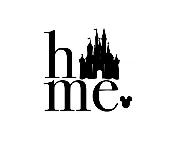 Disney Svg Disney Home Svg Disney Castle Svg Disney Etsy