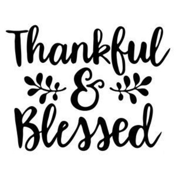 Thanksgiving Svg Fall Svg Thankful Svg Blessed Svg Etsy