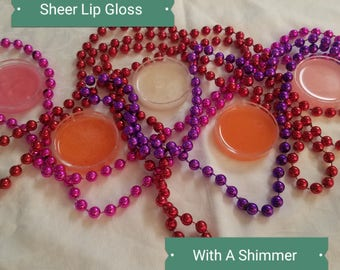 Sheer Lip Gloss With A Shimmer