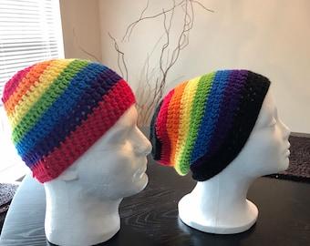 a65e1c0b919 Unisex rainbow beanie.