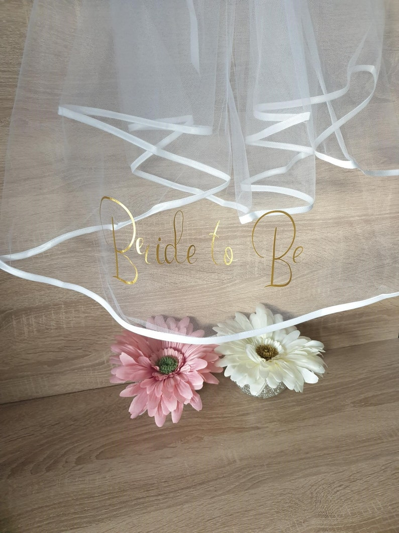 Bride to Be Personalised Veil