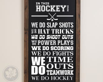 Hockey SVG / Hockey Clipart / In This Home SVG / In This House SVG / Hockey Player svg / svg Files for Cricut / Silhouette Files
