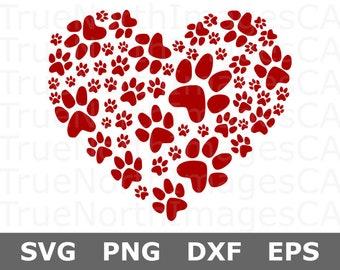 71b83edc0c226 Paw Print Heart SVG   Dog Paw Print SVG   Paw Print SVG   Paw Print Vector    svg Files for Cricut   Silhouette Files