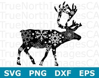 Reindeer SVG / Reindeer Clipart / Reindeer Clip Art / Reindeer Silhouette / Reindeer Vector / Christmas SVG Files / Svg Files for Cricut