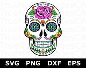 Sugar Skull SVG Files Sugar Skull Clipart Sugar Skull Clip art Day Of The Dead SVG Mexican Skull Svg Files for Cricut Silhouette